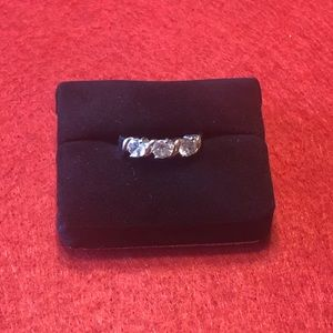 Kohl's Silver Ring with Cubic Zirconia Stones